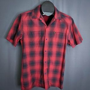 Obey Shirt Size Small Red Black Mens Short Sleeve